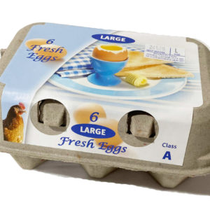 Caged Eggs Half Dozen Pack