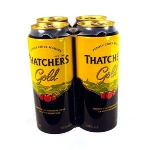 Thatchers Gold 4 Pack (500ml)