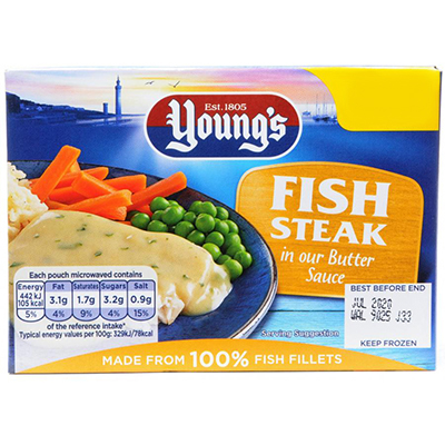 Youngs Fish Steak in Butter Sauce